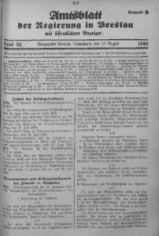 Amtsblatt der Regierung in Breslau, 1928, Bd. 119, St. 33