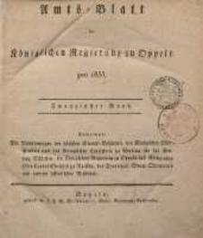 Amts-Blatt der Königlichen Regierung zu Oppeln pro 1835, 20. Bd.