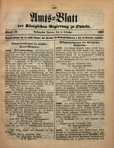 Amts-Blatt der Königlichen Regierung zu Oppeln, 1895, Bd. 80, St. 40