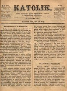 Katolik, 1873, R. 6, nr 22