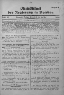 Amtsblatt der Regierung in Breslau, 1929, Bd. 120, St. 21