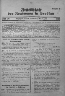 Amtsblatt der Regierung in Breslau, 1929, Bd. 120, St. 28