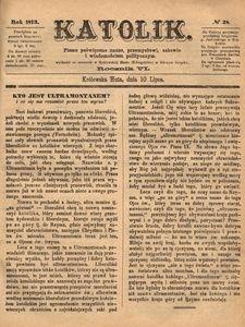 Katolik, 1873, R. 6, nr 28