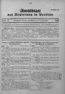 Amtsblatt der Regierung in Breslau, 1929, Bd. 120, St. 47