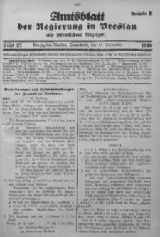 Amtsblatt der Regierung in Breslau, 1930, Bd. 121, St. 37