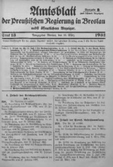 Amtsblatt der Preußischen Regierung in Breslau, 1932, Bd. 123, St. 13