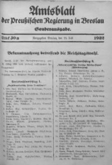 Amtsblatt der Preußischen Regierung in Breslau, 1932, Bd. 123, St. 30a