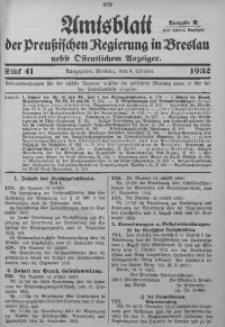 Amtsblatt der Preußischen Regierung in Breslau, 1932, Bd. 123, St. 41