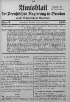 Amtsblatt der Preußischen Regierung in Breslau, 1932, Bd. 123, St. 45