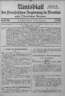 Amtsblatt der Preußischen Regierung in Breslau, 1932, Bd. 123, St. 50