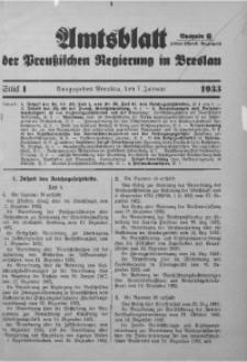 Amtsblatt der Preußischen Regierung in Breslau, 1933, Bd. 124, St. 1