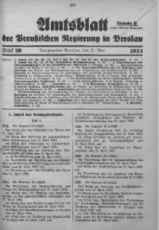 Amtsblatt der Preußischen Regierung in Breslau, 1933, Bd. 124, St. 20