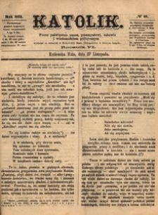 Katolik, 1873, R. 6, nr 48