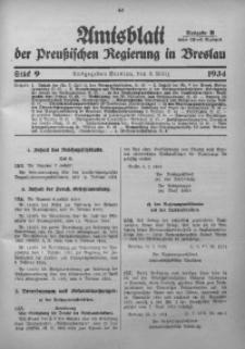 Amtsblatt der Preußischen Regierung in Breslau, 1934, Bd. 125, St. 9