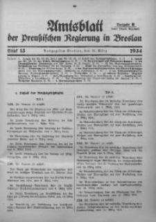 Amtsblatt der Preußischen Regierung in Breslau, 1934, Bd. 125, St. 13