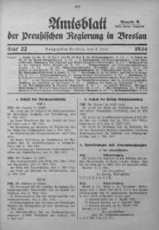 Amtsblatt der Preußischen Regierung in Breslau, 1934, Bd. 125, St. 22