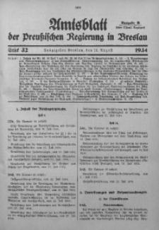 Amtsblatt der Preußischen Regierung in Breslau, 1934, Bd. 125, St. 32