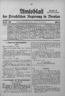 Amtsblatt der Preußischen Regierung in Breslau, 1934, Bd. 125, St. 48