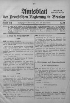 Amtsblatt der Preußischen Regierung in Breslau, 1934, Bd. 125, St. 52