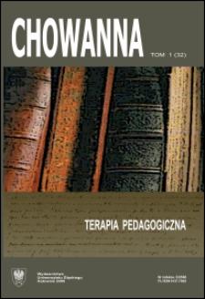 Chowanna. T. 1 (32): Terapia pedagogiczna