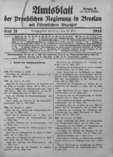Amtsblatt der Preußischen Regierung in Breslau, 1935, Bd. 126, St. 21