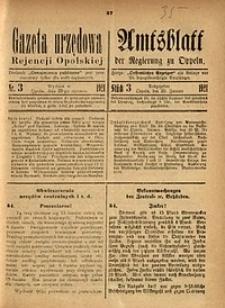 Gazeta Urzędowa Rejencji Opolskiej, 1921, R. 105, Nr. 9