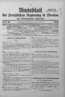 Amtsblatt der Preußischen Regierung in Breslau, 1937, Bd. 128, St. 16