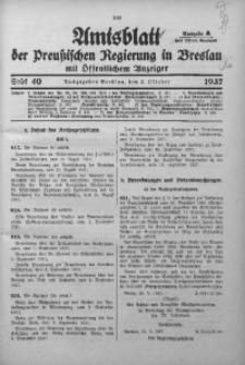 Amtsblatt der Preußischen Regierung in Breslau, 1937, Bd. 128, St. 40