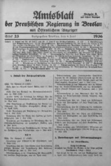Amtsblatt der Preußischen Regierung in Breslau, 1936, Bd. 127, St. 23