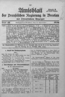 Amtsblatt der Preußischen Regierung in Breslau, 1936, Bd. 127, St. 46
