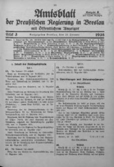 Amtsblatt der Preußischen Regierung in Breslau, 1938, Bd. 129, St. 3