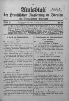 Amtsblatt der Preußischen Regierung in Breslau, 1938, Bd. 129, St. 5