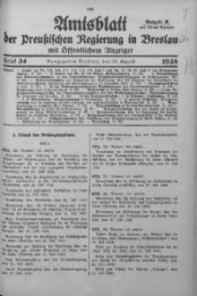 Amtsblatt der Preußischen Regierung in Breslau, 1938, Bd. 129, St. 34