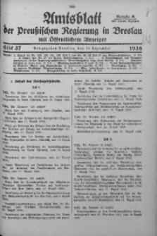 Amtsblatt der Preußischen Regierung in Breslau, 1938, Bd. 129, St. 37