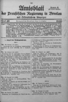 Amtsblatt der Preußischen Regierung in Breslau, 1938, Bd. 129, St. 40