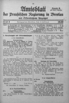 Amtsblatt der Preußischen Regierung in Breslau, 1939, Bd. 130, St. 7