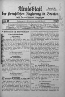 Amtsblatt der Preußischen Regierung in Breslau, 1939, Bd. 130, St. 15