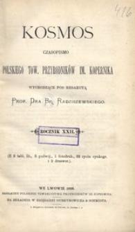 Kosmos, 1898, R. 22