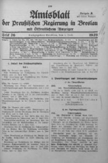 Amtsblatt der Preußischen Regierung in Breslau, 1939, Bd. 130, St. 26
