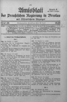 Amtsblatt der Preußischen Regierung in Breslau, 1939, Bd. 130, St. 28