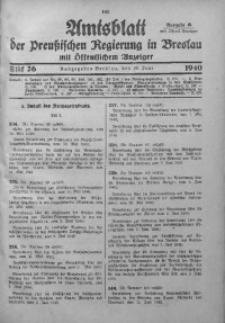 Amtsblatt der Preußischen Regierung in Breslau, 1940, Bd. 131, St. 26