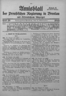Amtsblatt der Preußischen Regierung in Breslau, 1940, Bd. 131, St. 38