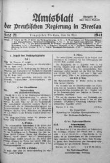 Amtsblatt der Preußischen Regierung in Breslau, 1941, Bd. 132, St. 21