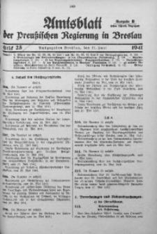 Amtsblatt der Preußischen Regierung in Breslau, 1941, Bd. 132, St. 25