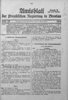 Amtsblatt der Preußischen Regierung in Breslau, 1941, Bd. 132, St. 45