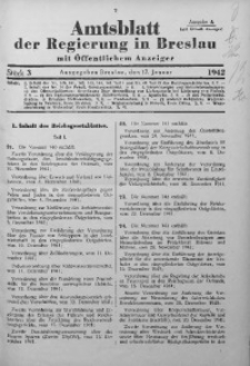 Amtsblatt der Regierung in Breslau, 1942, Bd. 133, St. 3