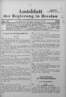 Amtsblatt der Regierung in Breslau, 1942, Bd. 133, St. 17