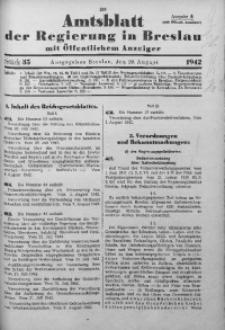 Amtsblatt der Regierung in Breslau, 1942, Bd. 133, St. 35