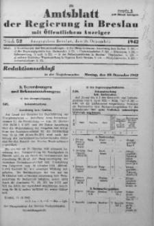 Amtsblatt der Regierung in Breslau, 1942, Bd. 133, St. 52