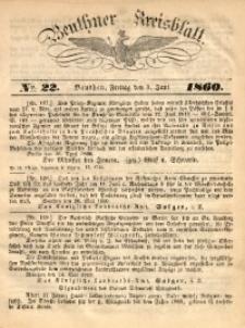 Beuthner Kreisblatt, 1860, No. 22